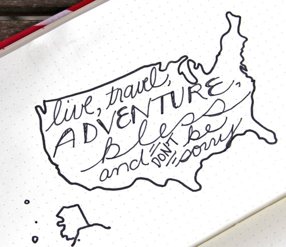 US Map Stencil Bullet Point Journal Travel Stencil Fits - Us map stencil