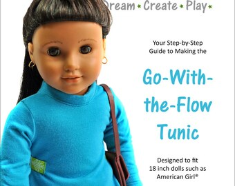 Go-With-the-Flow Tunic for 18 Inch dolls - PDF