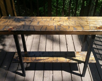 Entryway Table, Rustic Table, Foyer Table, Sofa Table