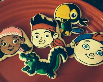Jake and Neverland Pals Themed Cookies