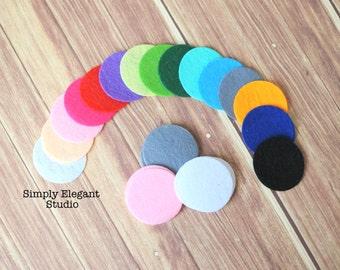 "Assorted Colors Felt Circles, 1.5"" Flower Felt Circles, Headband Supplies"