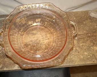 Pink Depression Glass Large and Mayfair