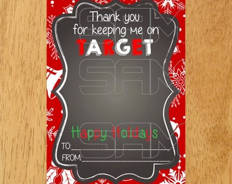 Target Gift Card Holder Tag, Happy Holidays Gift Card Holder, Holiday Printable