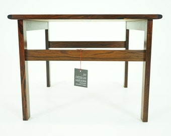 307-031 SALE! Danish Mid Century Modern Rosewood Side Coffee Lamp Table