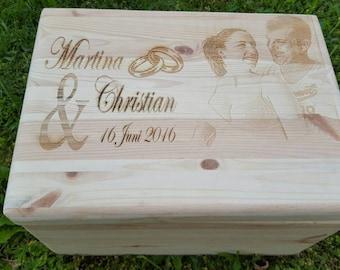 Weddingbox, gift box, box of wedding, anniversary