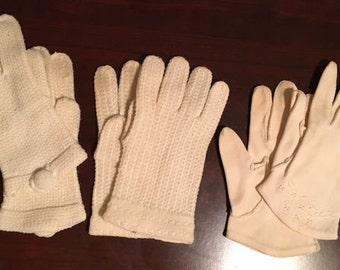 Vintage gloves for small hands or children