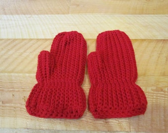 Cozy Red Mittens