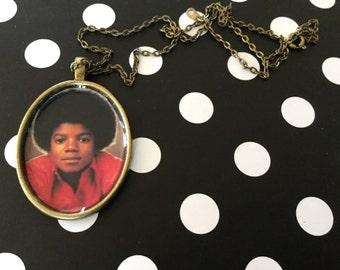 Little Michael Jackson Jackson 5 Pendant Necklace