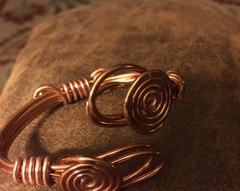 Copper Aluminum Wrap bracelet