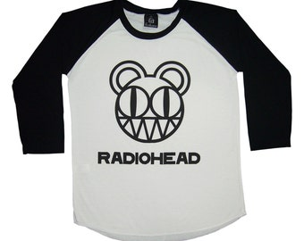 Radiohead Shirt Radiohead Tshirt Rock T shirts Gift for Friends Raglan Tee Mens Gifts Concert Shirt Gift For Women Baseball Shirt