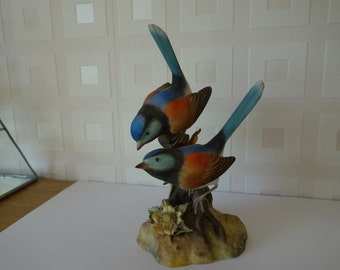 Royal Crown Derby Fairy Wrens matt figurine