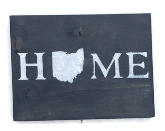 You Pick Colors - Ohio Wall Art -  Home State Sign - Ohio State Sign - Ohio State - Ohio State Decor - Housewarming Gift - Christmas Gifts