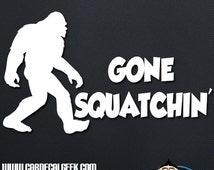 Bigfoot Sasquatch Gone Squatchin Car Decal Sticker, Laptop Decal Sticker, Macbook Decal Sticker, Wall Decal Sticker