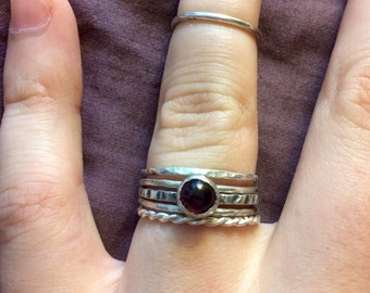 Silver Stacking Rings *comes with 3