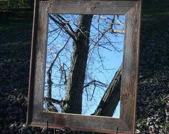 "Barn Wood Mirror 16"" x 20"""