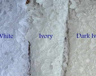 Soft Illusion Bridal Tulle Color Chart of MariaLovesLace