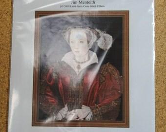 Catherine Parr cross stitch chart
