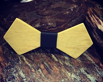 Yellowheart- leather wrapped bowtie