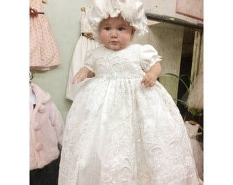 Cristening Gown with Bonnet-Hairloom-Matilda