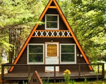 Build your own 24' X 21' A Frame 2 Story Cabin (DIY Plans) Fun to build, save Dolar