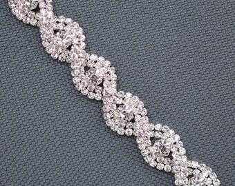 Vintage Wedding Bracelet, Bridal bracelet, Crystal Wedding bracelet, Wedding jewelry, Crystal bracelet