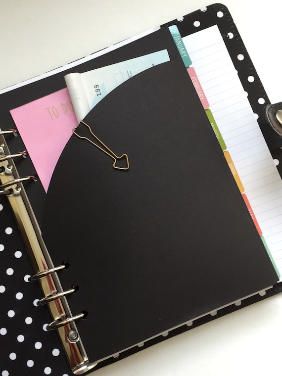 Planner Folder With Rounded Single Pocket - A5 Size