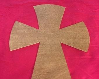 "24"" Unfinished Wood cross cutout"