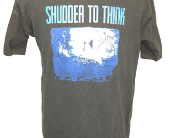 rare 90's shudder to think hardcore punk alternative rock t shirt