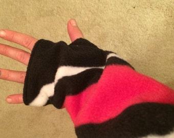 PinkStripe Fleece Arm Warmer