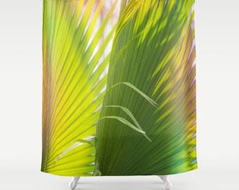 beach shower curtain, palm tree shower curtain, beach bath decor, boho bath decor, summer decor, boho decor, palm trees, nature photography