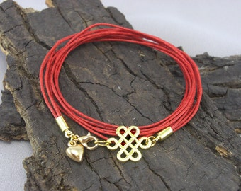 Bracelet Celtic Knot Gold Plated