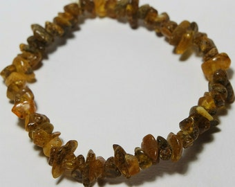 Amber Bracelet Green b027 Authentic Natural Genuine Baltic Amber