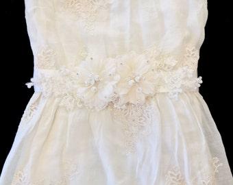 fabric flower bridal ivory fabric fabric wedding sash wedding sash belt bridal ivory bridal sash