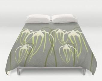 Rare orchids,Duvet cover,Bedding,Bedroom decor,Queen,King and Full duvet cover,Sleep in nature,modern bedding,Floral duvet cover,