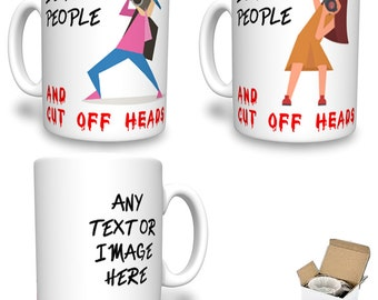 I Shoot People ..and Cut Off Heads Funny Photographers Personalised Printed Mug