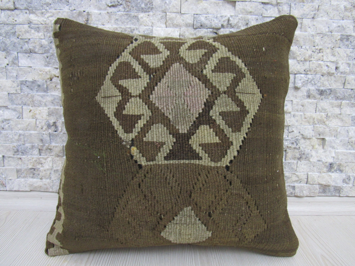 Modern Kilim Pillows : Decorative Modern Kilim Pillow 16 x 16 Bedding