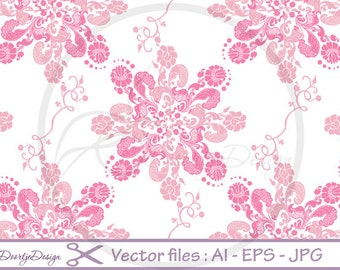 Seamless Baroque Pattern, Floral SVG file, EPS file, png file, Floral Digital Vector Files, Vector Graphics, Vector File