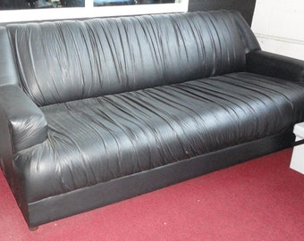 Sofa, Black leatherett