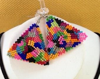 Miyuki delica 11/0 beads earrings