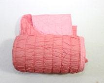 Pink Queen indian quilt,Queen Cotton handmade quilt, Queen quilted bed throw,Queen Quilted bedspread ,Queen size blanket,Indian bedding