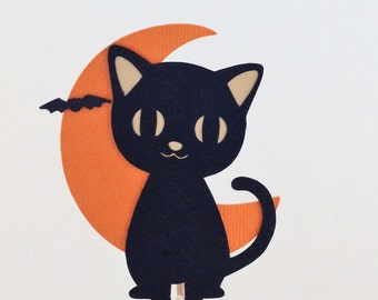 black cat halloween cupcake topper black cat cupcake topper halloween decorations fall birthday
