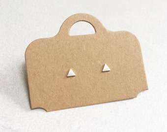 Triangle Earrings ~ Silver/Gold