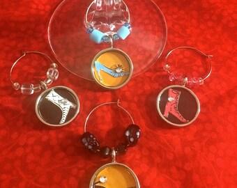 Fashion Shoes Wine Glass Charms