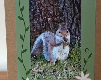 Thank You card, squirrel