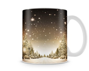 Snowy Night Sky Winter Wrap
