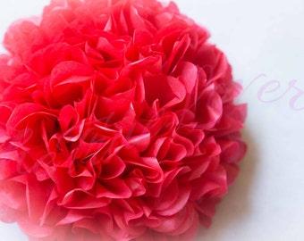 CHERRY RED/tissue paper Pompoms,single atipompom,nursery room decoron, baby shower,wedding,birthday,engagement,bridal shower,DIY,centerpiece