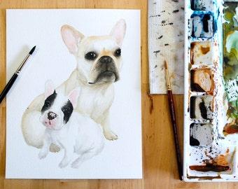 French Bulldogs Print