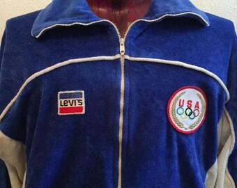 1980 Levis olympic games velvet vintage jacket