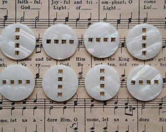 Art Deco Style Pearlised Decorative Button 23mm x 10