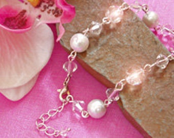 Pearl & Swarovski Crystal Bracelet
